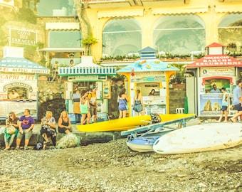 Italy Photography, Nautical, Amalfi Coast, Italy, Beach Photography, Italian Home Decor, Beach Art, Bedroom Art, Vintage, Nostalgia