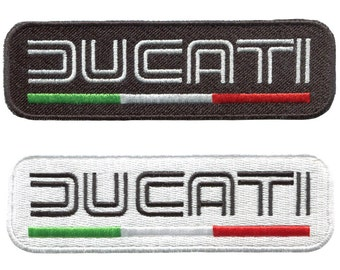 Vintage Style Ducati Motorcycle Patch Badge for Jacket Hat Cap