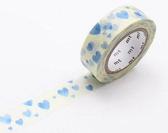 MT Heart Stamp Blue Washi Tape - by mt masking tape