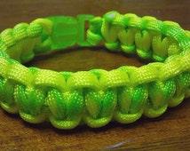 Green & Yellow Paracord Bracelet