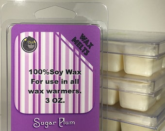 Sugar Plum Highly Scented Candle Soy Wax Tarts Melts Clamshell Breakaway Cubes