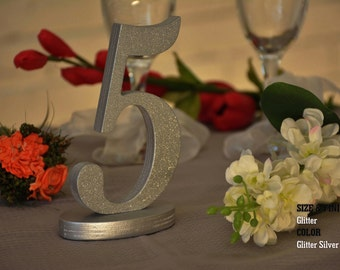 40 Table Numbers, Wedding Table Numbers, SET 1/40, Elegant Wedding Table Numbers, Gold Table Numbers, Silver Table Numbers