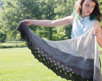 Shawl knitting pattern *Sacred Geometry*