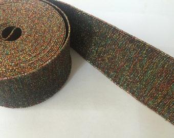 2 in wide fancy glitter elastic - shimmery waistband