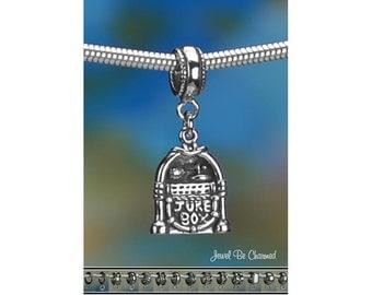 Sterling Silver Jukebox Charm or European Style Charm Bracelet .925