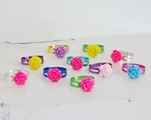 Adjustable Flower Ring, Party Favor, Party Bag Filler, Girl Party Favor, Kids Party Favor, Birthday Favors, Party Favors, Loot Bag Filler