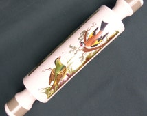 Vintage Portmeirion Wild Birds Rolling Pin - Ceramic, Collectable - Excellent Condition