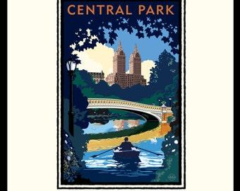 Landmark Series | NY, Central Park Bridge Day by Mark Herman