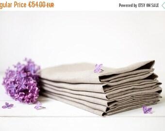 SALE 15 OFF Linen napkins set 12 - Easter linen napkins - Wedding napkins 18.5'' x 18.5'' - Gray linen napkins - Organic napkin cloths - Din