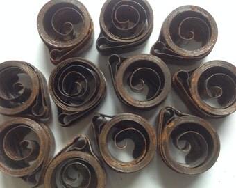 Vintage supply of alarm clock mainspring parts lot