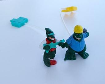 Disney McDonalds Dinosaurs TV Show 1992 Pump Toys Lot