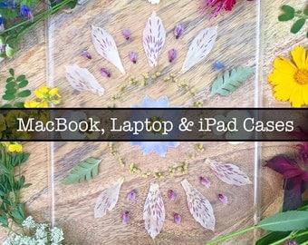 Pressed Flower MacBook, Laptop and iPad Cases
