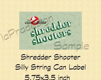 Shredder Shooter Silly String Label