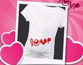 Baby Feet Love Bump Mom to be shirt Maternity Baby Bump's Happy Valentine's Day Shirt