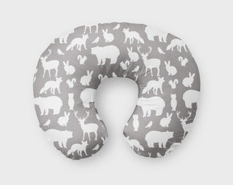 Animal Nursing Pillow : Animal minky boppy Etsy