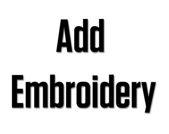 Add Embroidery to your Product