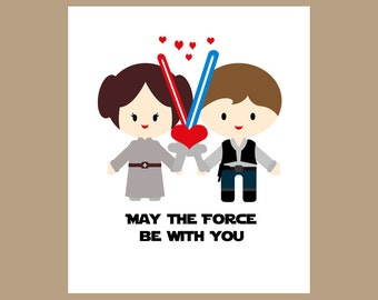 Star Wars Wedding Card - Star Wars Valentine Card, Geek Wedding Card - Star Wars Love Card - Nerd Wedding Card, Geek Valentine