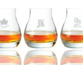 Personalized Engraved Glencairn Canadian Whiskey Glasses, 11.75 oz.  (per piece)
