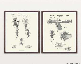 Tattoo Patent - Tattoo Gun Patent - Tattoo Art - Tattoo Wall Art - Tattoo Artist - Vintage Tattoo - Body Art  - Ink Patent - Tattoo Shop