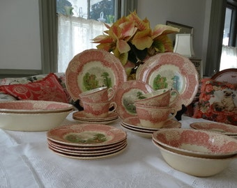 "Royal Doulton ""The Chatham"" Bread and Butter Plate in lovely shades of rose, green and cream. Made in England."