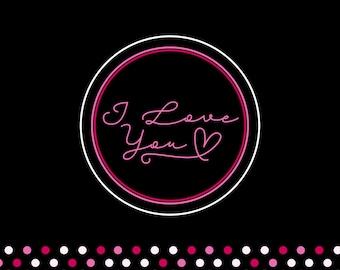 I love You <3 in black