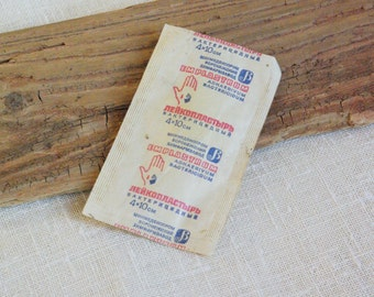 Soviet vintage plasters old russian medical surgical adhesive first aid dressing plaster for collection