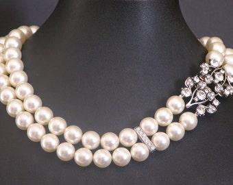 Large Swarovski Pearl Princess Length Necklace