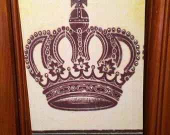 Rhinestone Crown Print