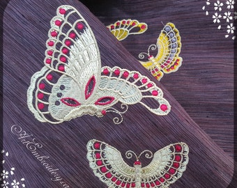 "Butterflies - Embroidery Designs Set for hoops 4x4"" and 5x7"""