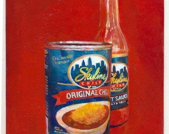 skyline chili can and hot sauce