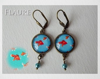 Earrings ''Japanese fish''