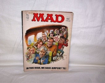 vintage july 1975 mad magazine with airport '75 on the cover