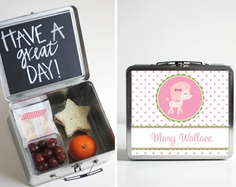 Personalized Lunch Box - Poodle Design
