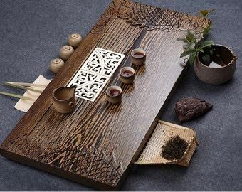 Extra-large size Wenge tea tray, displaying and serveing tea, tea tray handicraft, Chinese kung-fu tea set,chinese teaism practice.