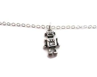 Robot Bracelet Small Robot Bracelet Cute Robot Bracelet Robot Jewelry Geekery Jewelry Geekery Bracelet  Gifts Under 20