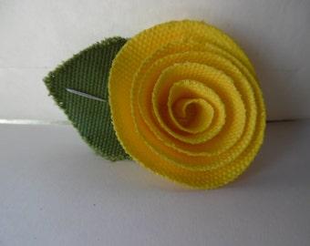 Yellow hair clip,Flower hair clip, Alligator  hair clip, Retro hair clip, Vintage hair clip