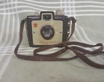 Vintage Kodak Brownie Holiday Flash CAMERA. Art Deco. Wedding Decor. Home Decor.