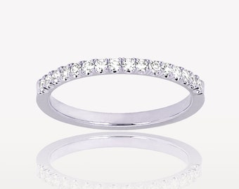 1.5mm Single Cut Diamond Band, Platinum, ~0.15ctw