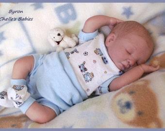 """Complete Kit Reborn Doll Peach MINI Baby BYRON 10"""" Denise Pratt Starter Beginner"""