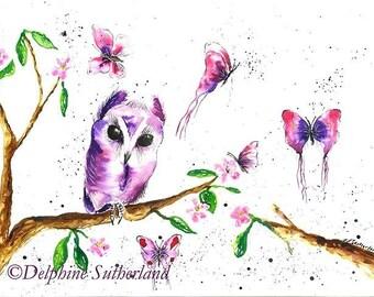 Mystical Moments #owlart #art #loveart #Delphinesart