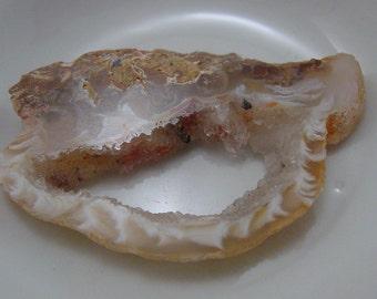 Agate Druzy Slice. Agate Shard.  Undrilled. #7143
