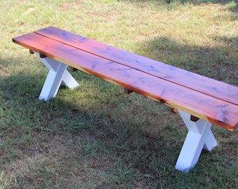 Garden bench, bench, patio furniture, outdoor furniture, cedar furniture, rustic furniture, cabin furniture
