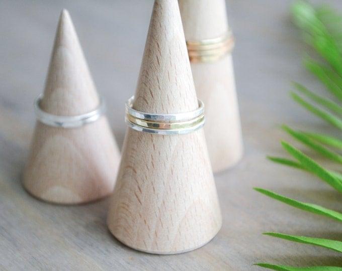 Ringholderset Beech-Wood / Assecory / jewelry display / Organiser / ringorganiser/ Wedding gift