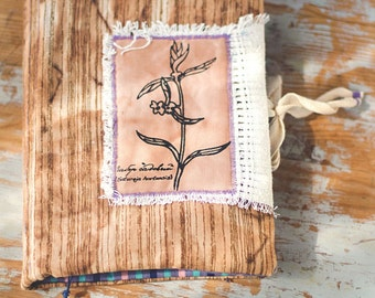 Thyme  Aroma Soft Notebook with Herbs - Textile Eco Diary Journal А5