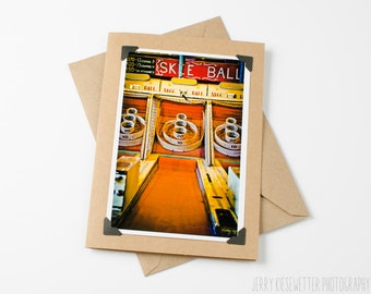 Skee Ball Game Photo Card - Ocean City Maryland - 4x6 5x7 Photo Card - Vintage Boardwalk Game - Affordable Photography Print