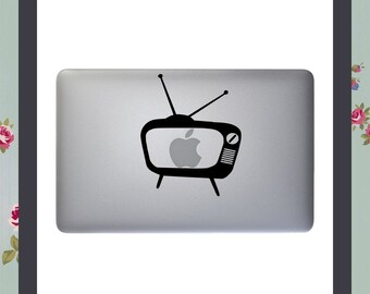 Mac Decal, Retro TV, Vintage Television, Apple Macbook and other Laptop Sticker, Mac Sticker, Laptop Decal