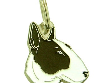 Pet ID tag, (Dog ID tag) Personalised, stainless steel, breed, Bull Terrier