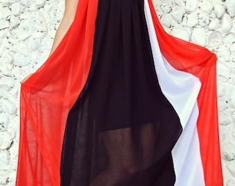 ON SALE 40% OFF Extravagant Summer Dress / Striped Summer Dress / Long Extravagant Kaftan / Extravagant Summer Kaftan Tdk187