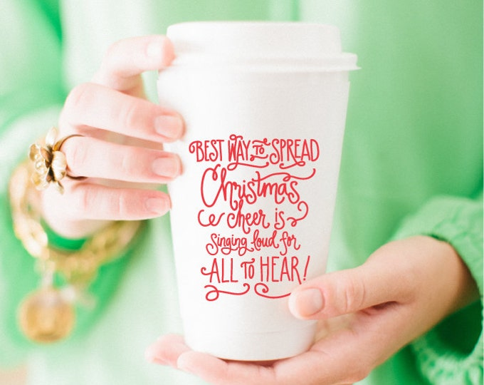 Christmas Cheer Coffee Cup (Set of 10)
