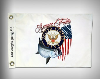 Navy Armed Forces 2 sided custom designed Flag